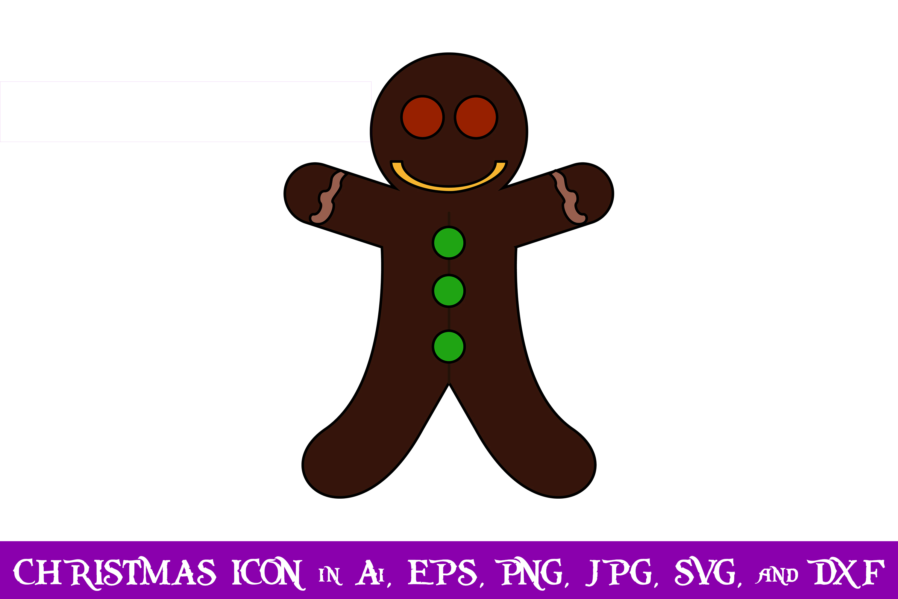 Download Free Gingerbread Christmas Icon Graphic By Purplespoonpirates for Cricut Explore, Silhouette and other cutting machines.