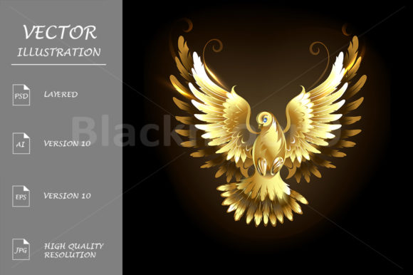 Gold Dove Graphic Illustrations By Blackmoon9