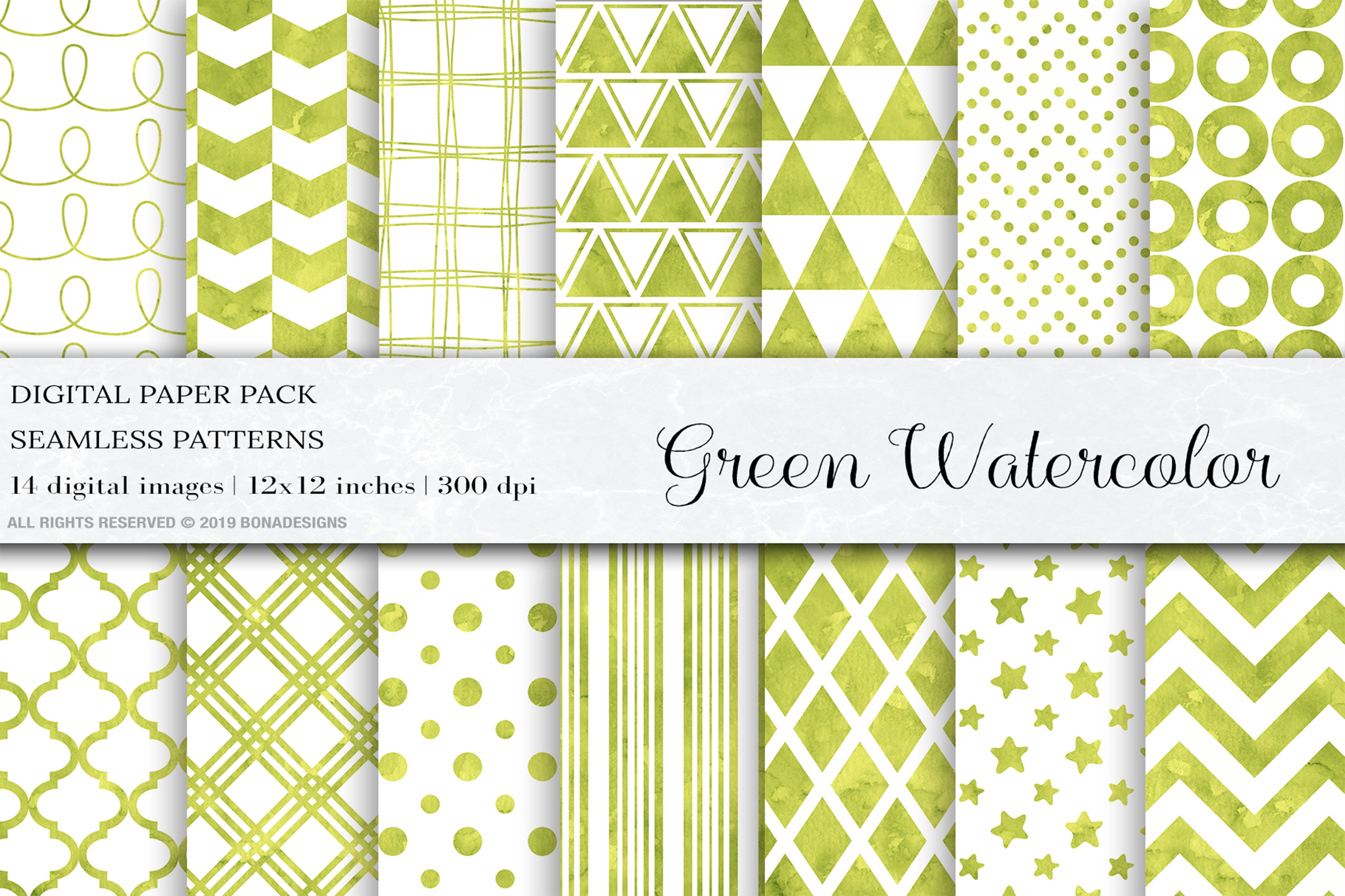 Download Free Green Watercolor Digital Papers Patterns Graphic By Bonadesigns for Cricut Explore, Silhouette and other cutting machines.