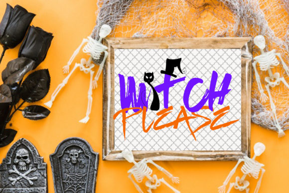 Grunge Witch Please Clipart Graphic By Dana Tucker