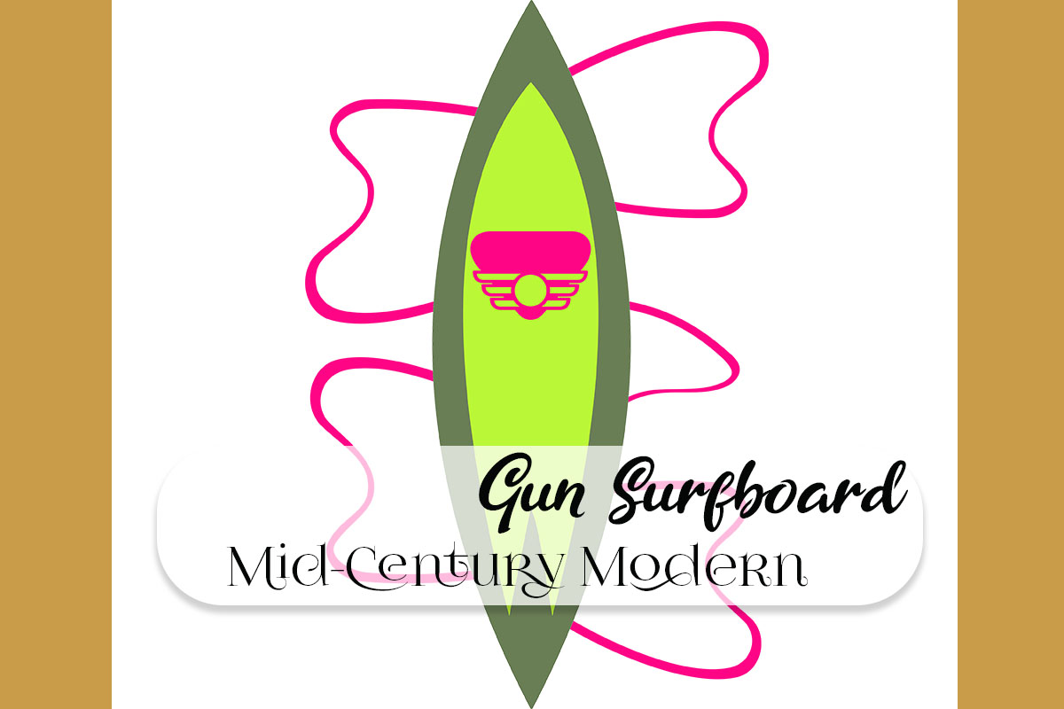 Download Free Gun Surfboard Mid Century Retro Design 5 Graphic By for Cricut Explore, Silhouette and other cutting machines.