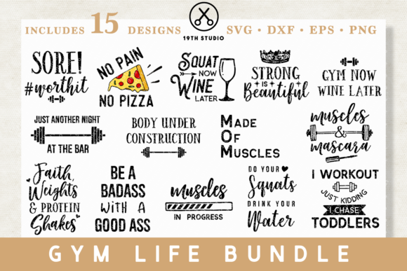 Gym Bundle Graphic Crafts By 19th Studio SVG