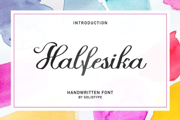 Print on Demand: Halfesika Script Script & Handwritten Font By Solidtype