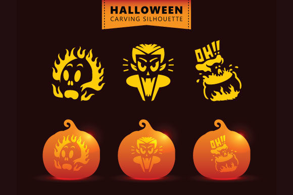 Download Free Halloween Cartoon Seamless Pattern Graphic By Rawtwo Std for Cricut Explore, Silhouette and other cutting machines.