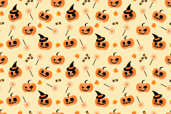 Download Free Halloween Pumpkin And Candy Corn Graphic By Thanaporn Pinp for Cricut Explore, Silhouette and other cutting machines.