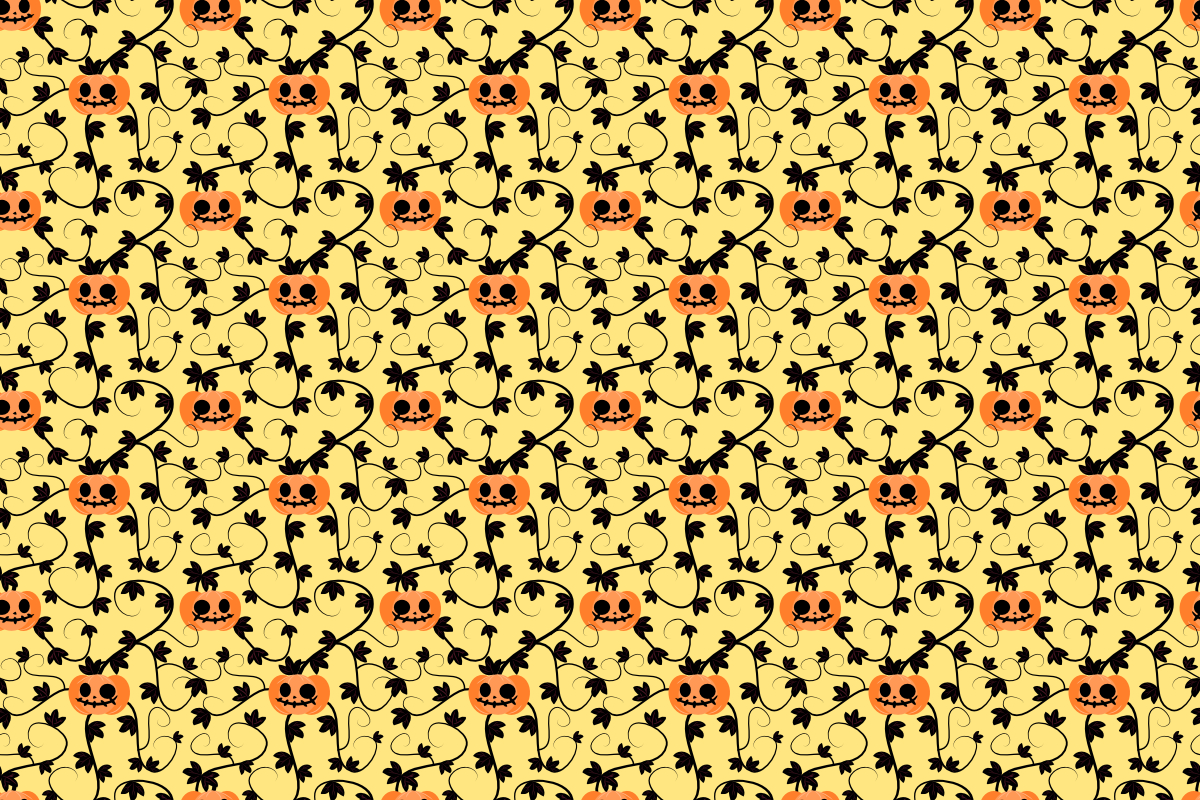 Download Free Halloween Pumpkin Seamless Pattern Grafico Por Thanaporn Pinp for Cricut Explore, Silhouette and other cutting machines.