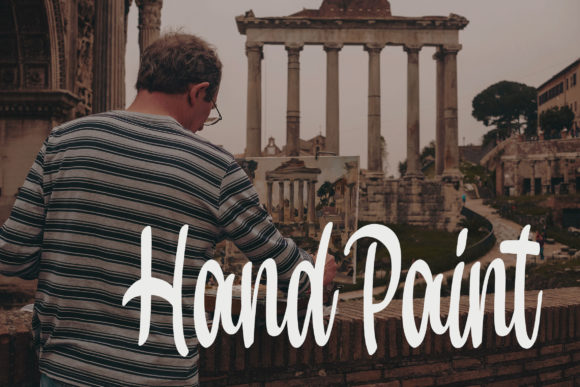Print on Demand: Hand Paint Script & Handwritten Font By Bangkit Setiadi