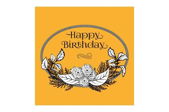 Download Free Happy Birthday Card Design Element Graphic By Graphicsfarm for Cricut Explore, Silhouette and other cutting machines.