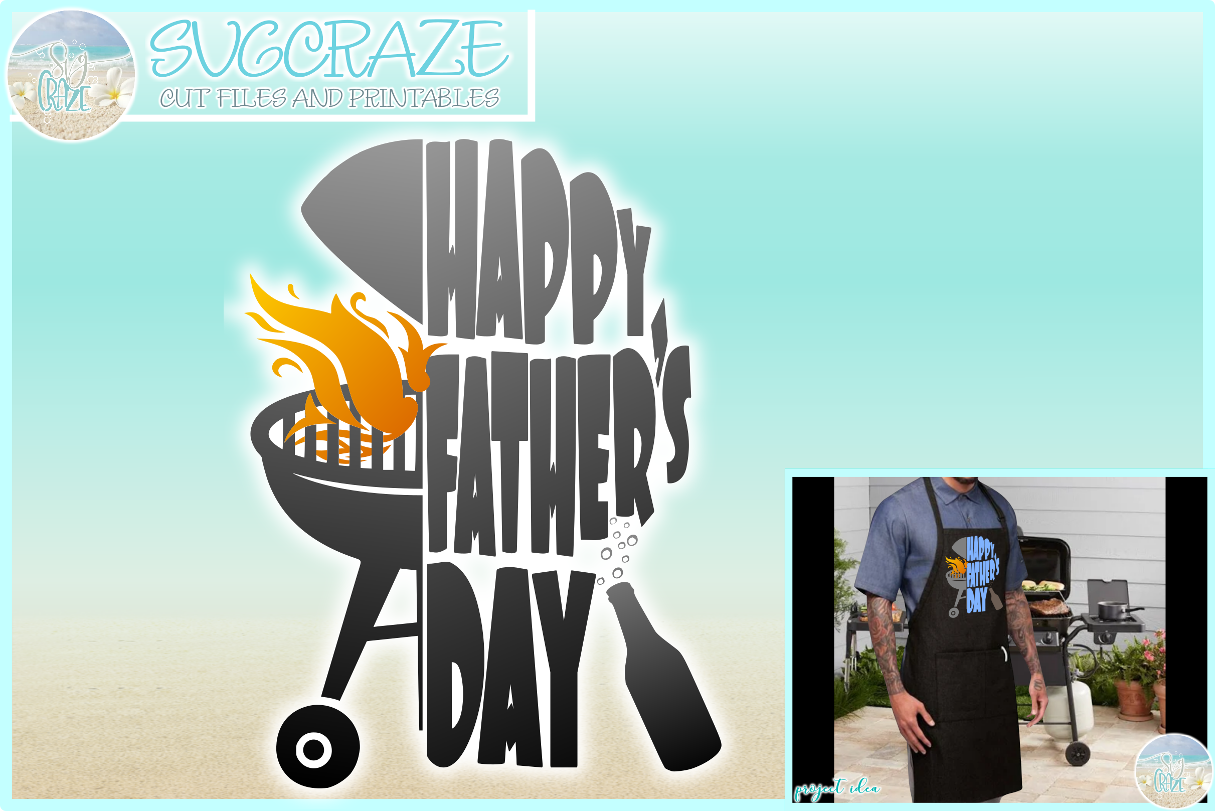 Happy Fathers Day Grill Svg Graphic By Harbor Grace Designs