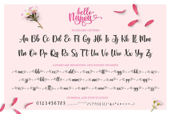 Print on Demand: Hello Najwa Script & Handwritten Font By Kotak Kuning Studio - Image 4