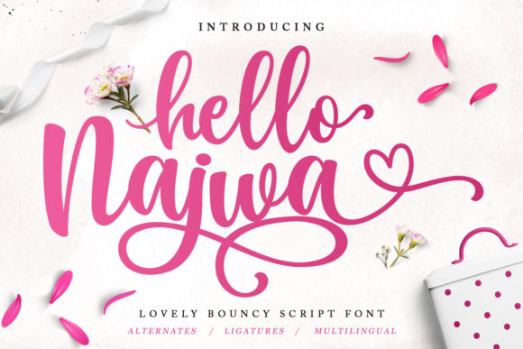 Print on Demand: Hello Najwa Script & Handwritten Font By Kotak Kuning Studio