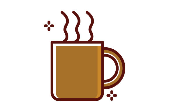 Hot Drink Filled Line Icon Logo Design Graphic By Graphicrun123
