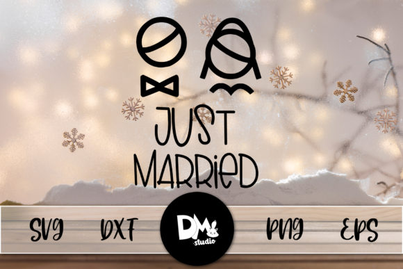 Print on Demand: Just Married Graphic Crafts By Sharon ( DMStd )