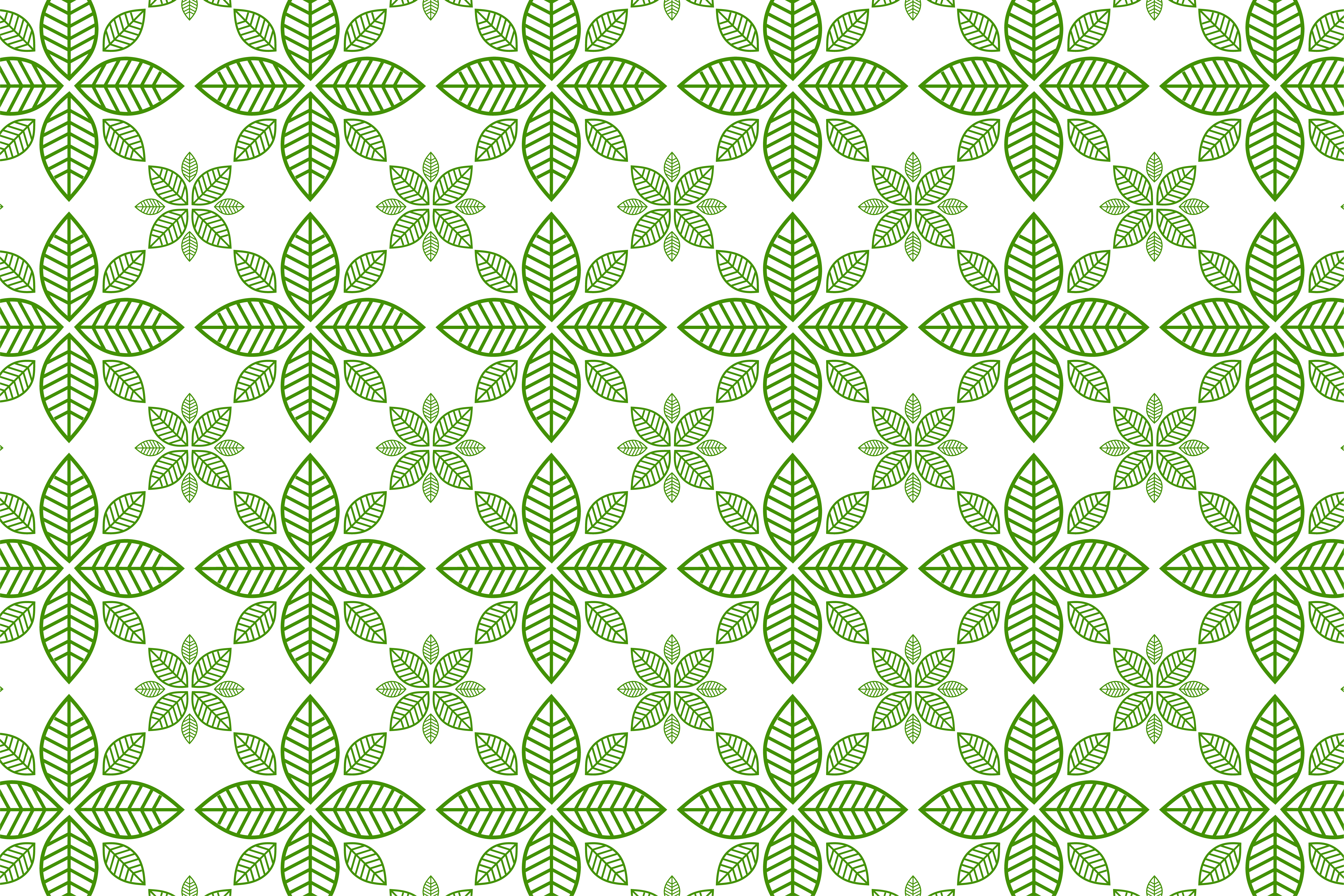 Download Free Leaf Pattern Green On White Background Graphic By Noory Shopper for Cricut Explore, Silhouette and other cutting machines.