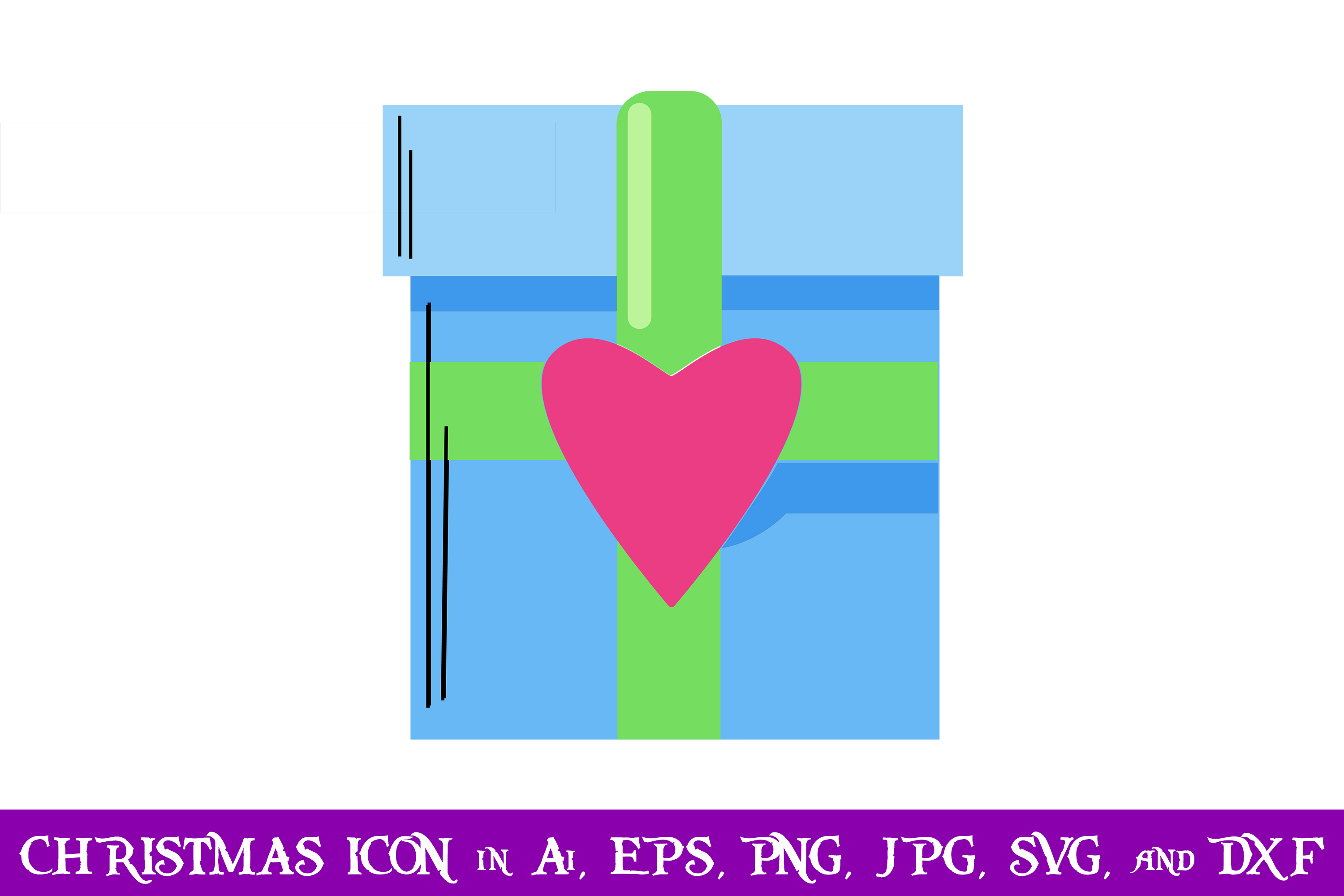 Download Free Love Gift Christmas Icon Graphic By Purplespoonpirates for Cricut Explore, Silhouette and other cutting machines.