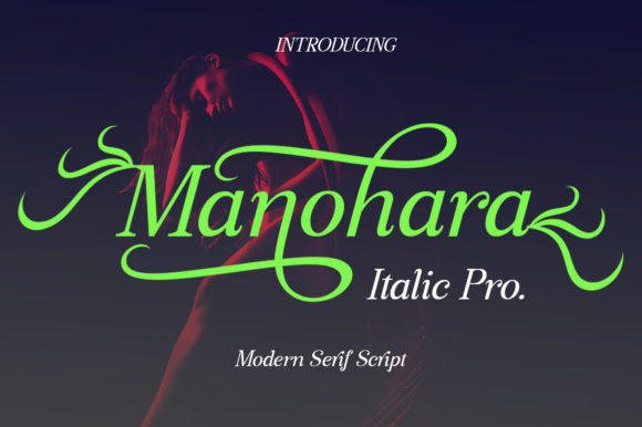 Print on Demand: Manohara Pro Italic Serif Font By bbakey