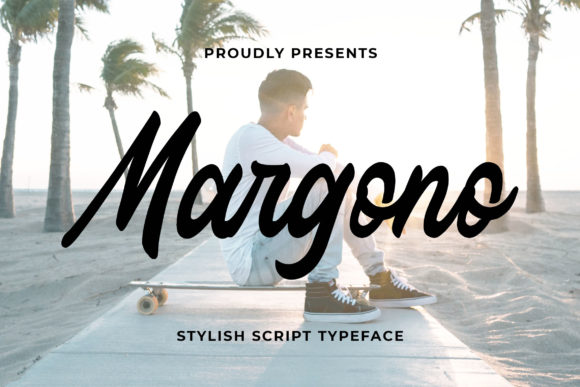 Print on Demand: Margono Script & Handwritten Font By Bangkit Setiadi