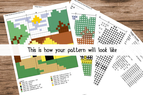 Download Free Mask Modern Cross Stitch Pattern Graphic By Crossstitching101 for Cricut Explore, Silhouette and other cutting machines.