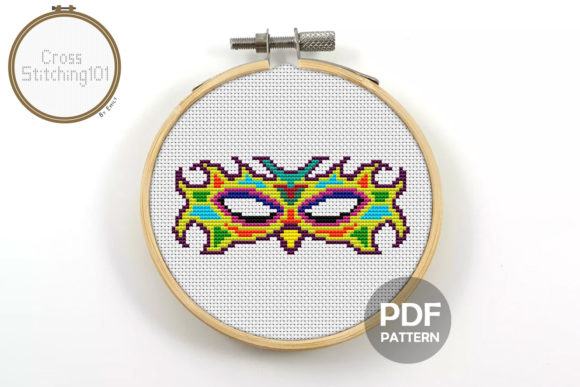 Mask Modern Cross Stitch Pattern Graphic By Crossstitching101