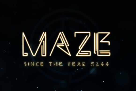 Print on Demand: Maze Display Font By denestudios
