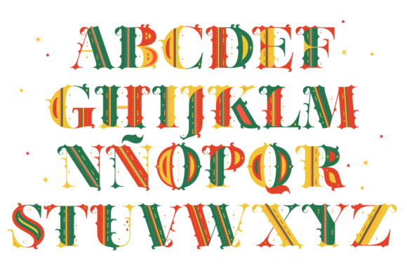 Print on Demand: Merry Christmas Color Fonts Font By yai.salinas - Image 2