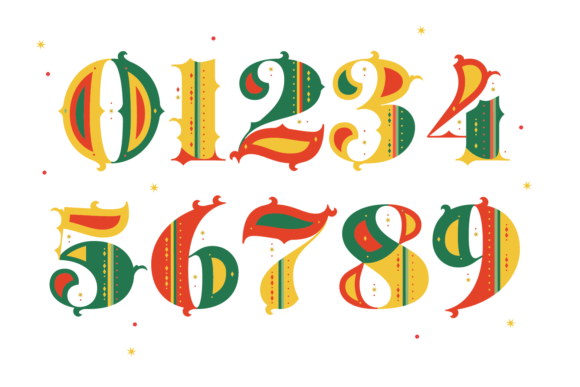 Print on Demand: Merry Christmas Color Fonts Font By yai.salinas - Image 3