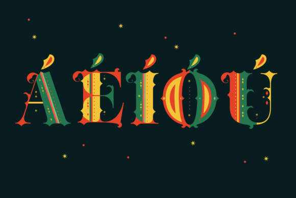 Print on Demand: Merry Christmas Color Fonts Font By yai.salinas - Image 4