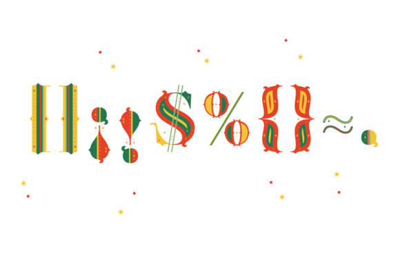 Print on Demand: Merry Christmas Color Fonts Font By yai.salinas - Image 5