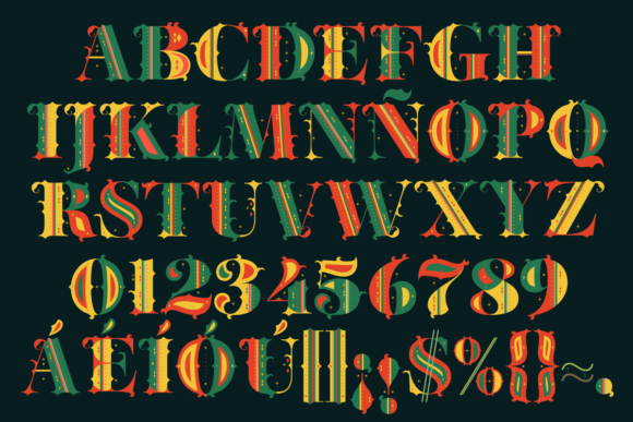 Print on Demand: Merry Christmas Color Fonts Font By yai.salinas - Image 6