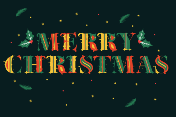 Print on Demand: Merry Christmas Color Fonts Font By yai.salinas