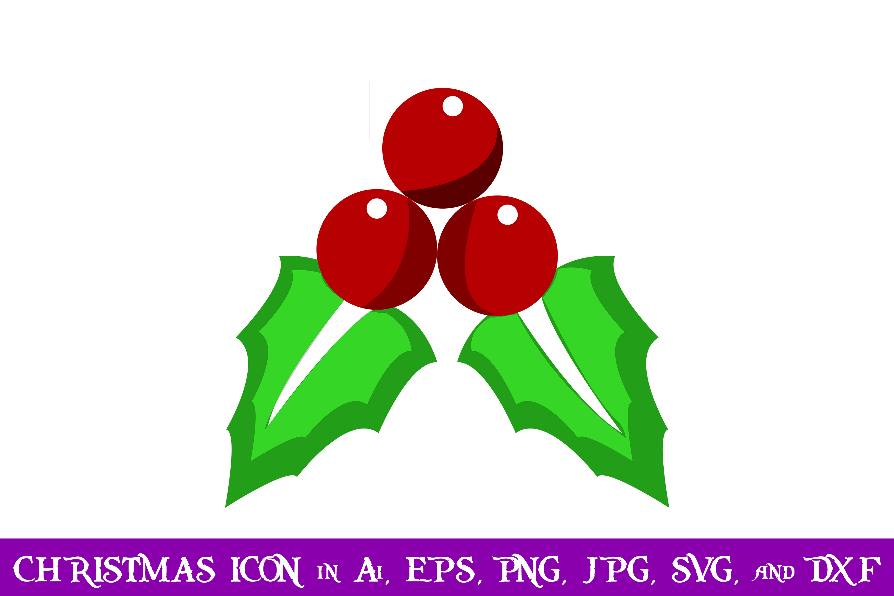 Download Free Mistletoe Christmas Icon Graphic By Purplespoonpirates for Cricut Explore, Silhouette and other cutting machines.