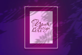 Mockup Poster in a Neon Pink Frame Graphic By Natalia Arkusha