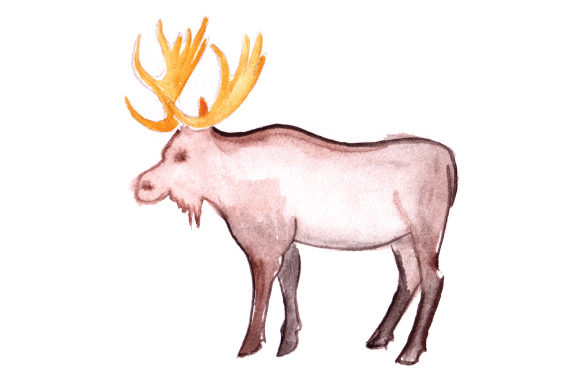Download Free Moose In Watercolor Svg Cut File By Creative Fabrica Crafts for Cricut Explore, Silhouette and other cutting machines.