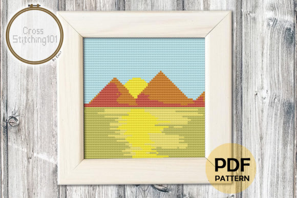 Download Free Maple Leaf Modern Cross Stitch Pattern Graphic By SVG Cut Files