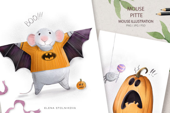 Mouse Pitte / Hallowe Graphic Illustrations By sto-va