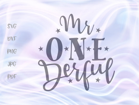 Download Free Mr Onederful 1st Birthday Boy Graphic By Digitals By Hanna for Cricut Explore, Silhouette and other cutting machines.