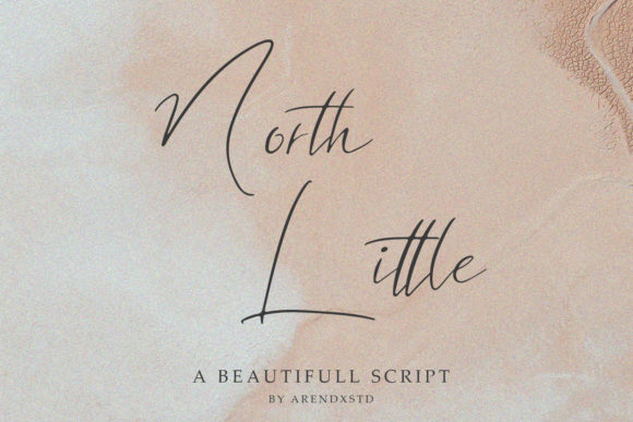 North Little Script & Handwritten Font By Arendxstudio