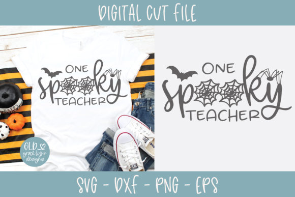 One Spooky Teacher Grafik Plotterdateien von GraceLynnDesigns