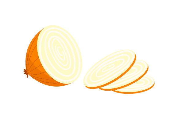 Download Free Onion Chopped In Half With Pieces Falling Out Svg Cut File By SVG Cut Files