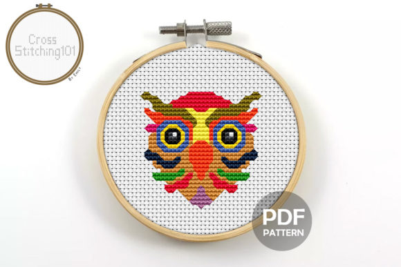 Download Free Owl Modern Cross Stitch Pattern Graphic By Crossstitching101 for Cricut Explore, Silhouette and other cutting machines.
