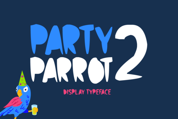 Party Parrot 2 Display Font By Imposing Fonts