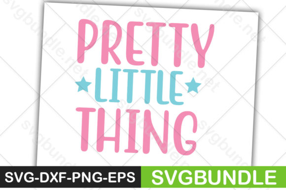 Print on Demand: Pretty Little Thing Graphic Crafts By svgbundle.net