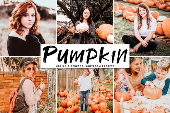 Print on Demand: Pumpkin Lightroom Presets Pack Graphic Actions & Presets By Creative Tacos