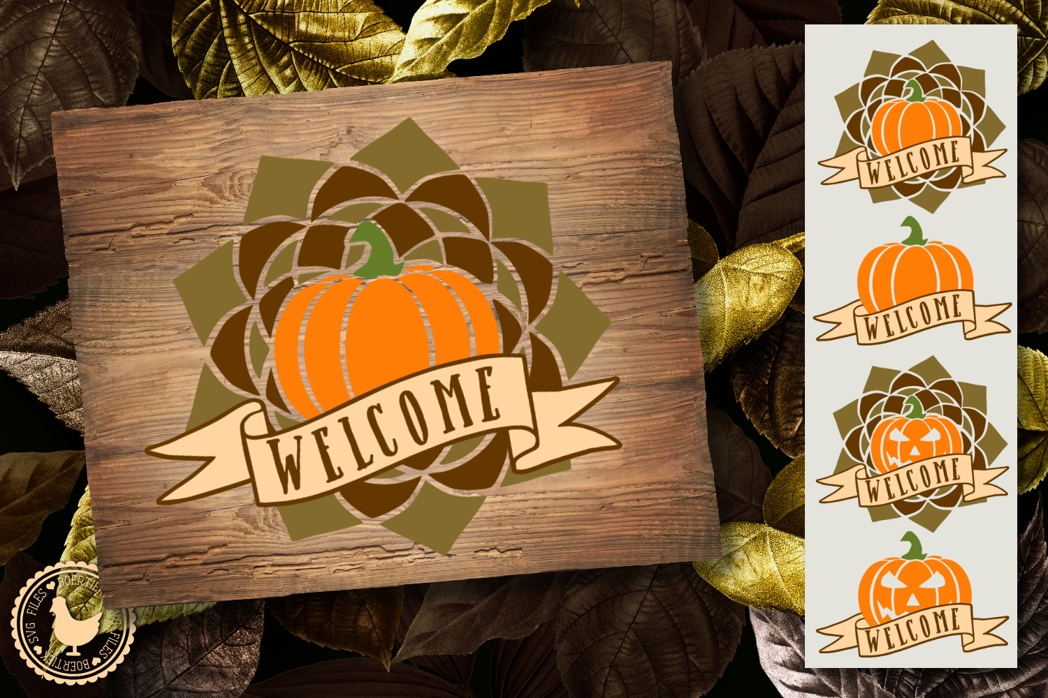 Download Free Pumpkin Fall And Halloween Graphic By Boertiek Creative Fabrica for Cricut Explore, Silhouette and other cutting machines.