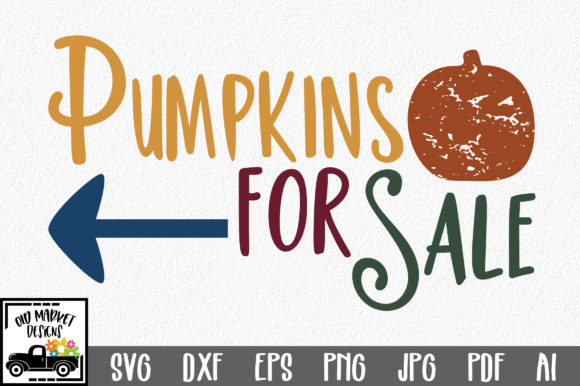 Pumpkins for Sale Graphic Crafts By oldmarketdesigns