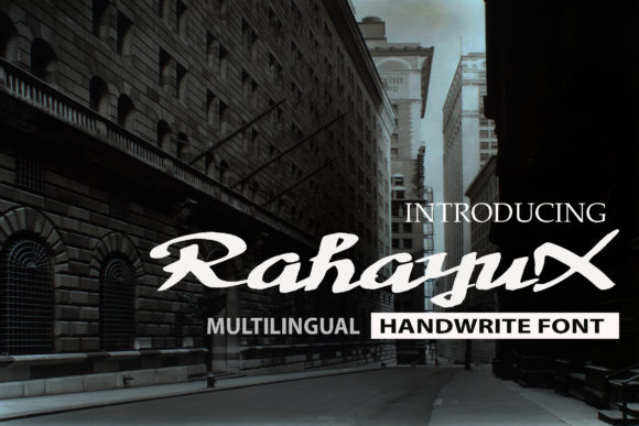 Print on Demand: RahayuX Script & Handwritten Font By choirul.archan