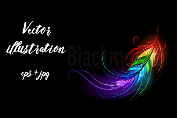 Download Free Rainbow Feather Graphic By Blackmoon9 Creative Fabrica for Cricut Explore, Silhouette and other cutting machines.