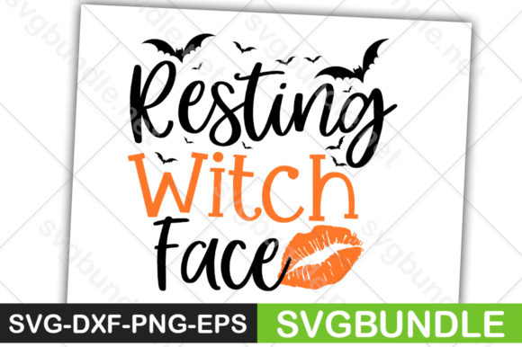 Print on Demand: Resting Witch Face Graphic Crafts By svgbundle.net
