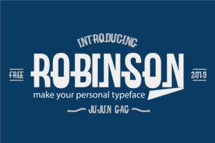 Print on Demand: Robinson Display Font By Nerdstudio