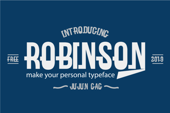 Print on Demand: Robinson Display Font By Gens Creatif Store